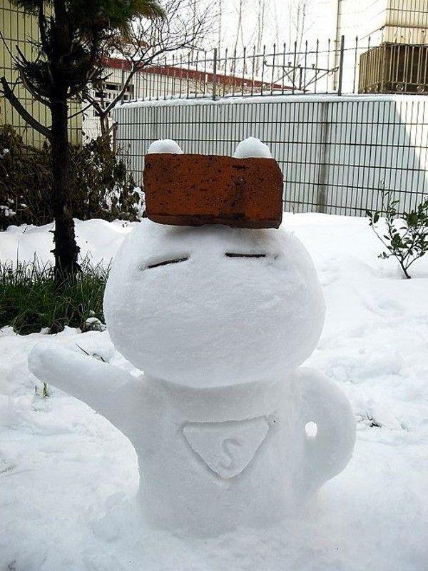 Прикольные, смешные и забавные снеговики.