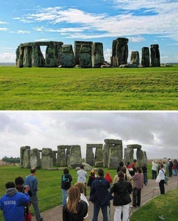 Знаменитые туристические места на фото и в действительности (25 фото)