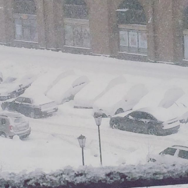 Небывалый снегопад в Центральной Рф (23 фото)