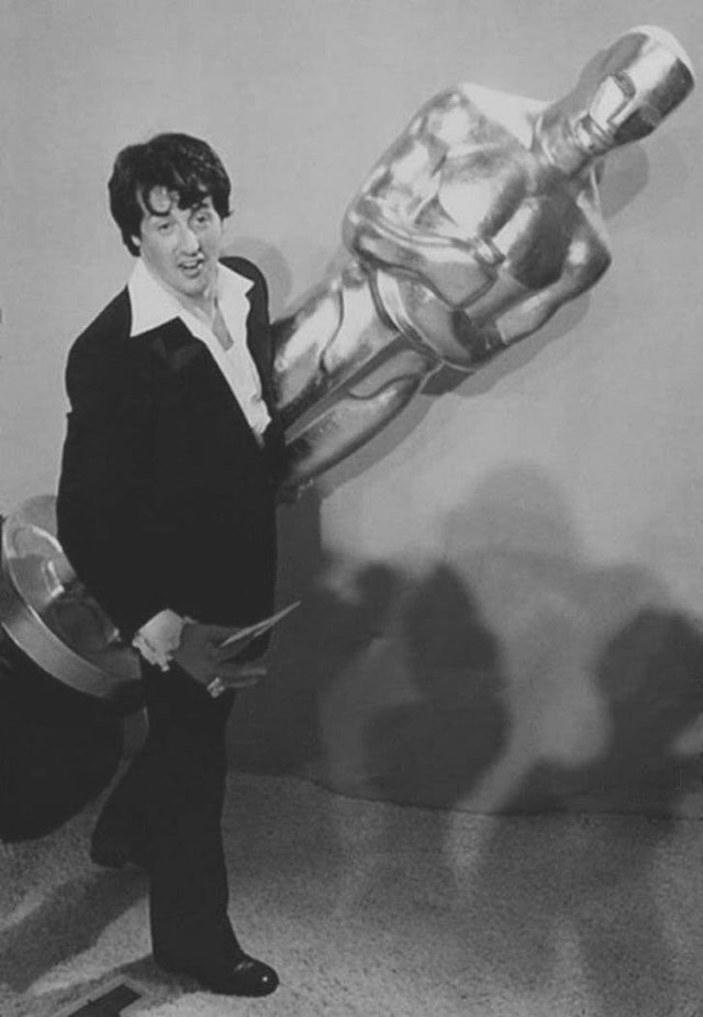 1977 год, Сильвестр Сталлоне на церемонии вручения «Оскара»