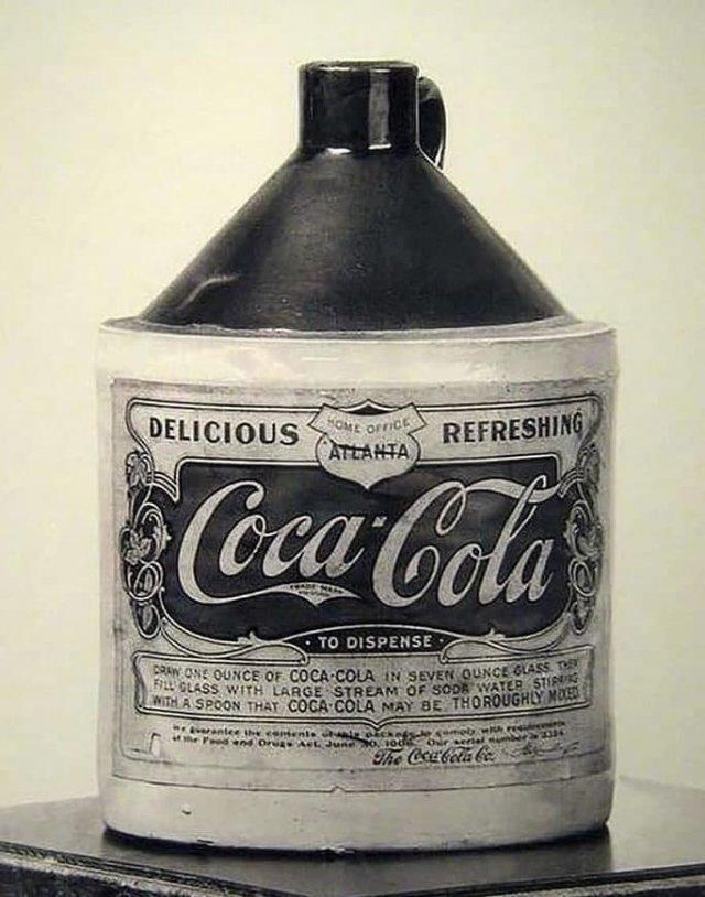 Самая первая и оригинальная бутылка Coca-Cola. Атланта, Джорджия. США.1894 год.