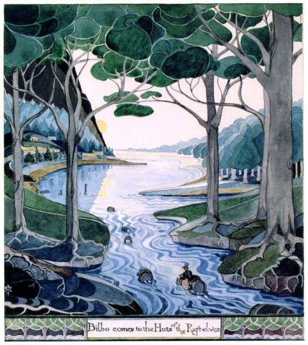 Картинки сочинителя Джона Толкина к собственным творениям (15 рисунков)