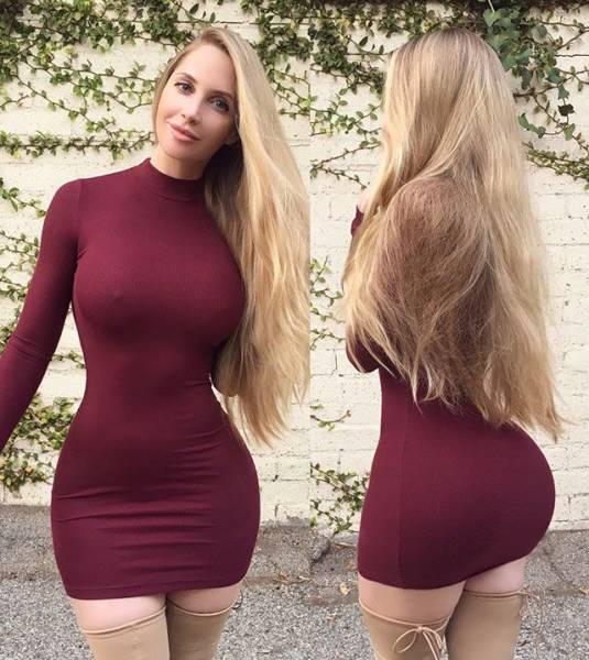 Великолепные девушки в коротких платьях (60 фото)