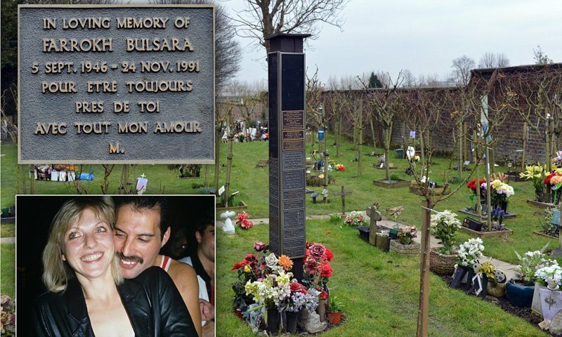 Фредди Меркьюри жизнь, звезды, кладбище, могилы, музыканты, похоронены
