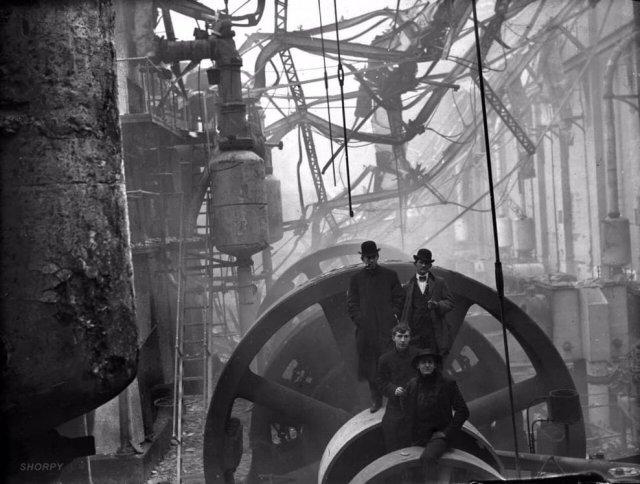 Пожар на электростанции, Балтимор, США, 1904 год.