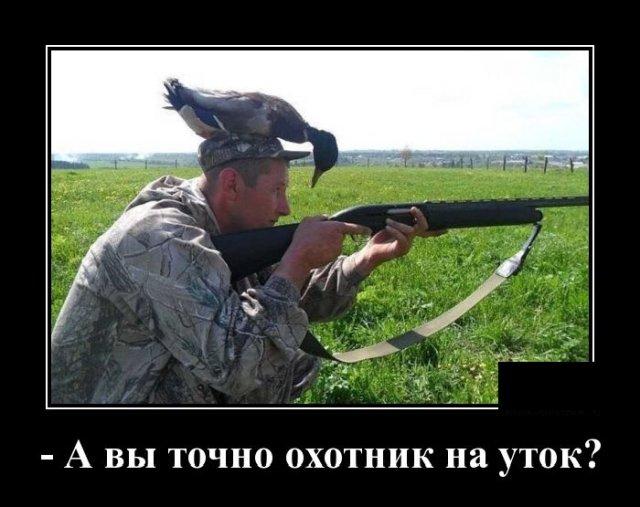 Демотиватор про охотников