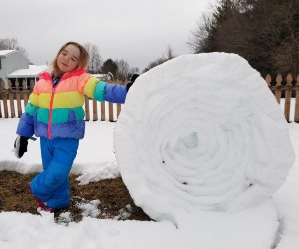 Снежный ком делал каждый, а снежный рулон?