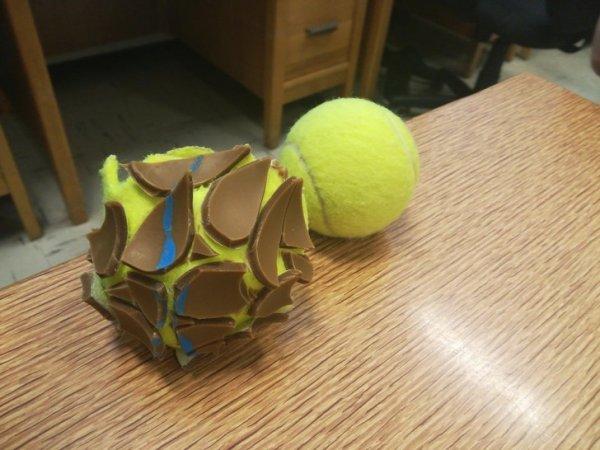 Теннисный мяч изнутри