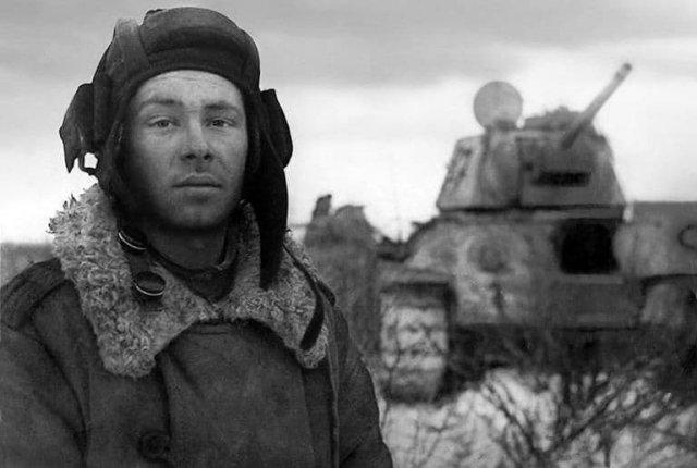Танкист Михаил Смирнов, 1944 год.