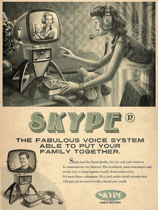 Реклама современных интернет-сервисов в духе ретрофутуризма.