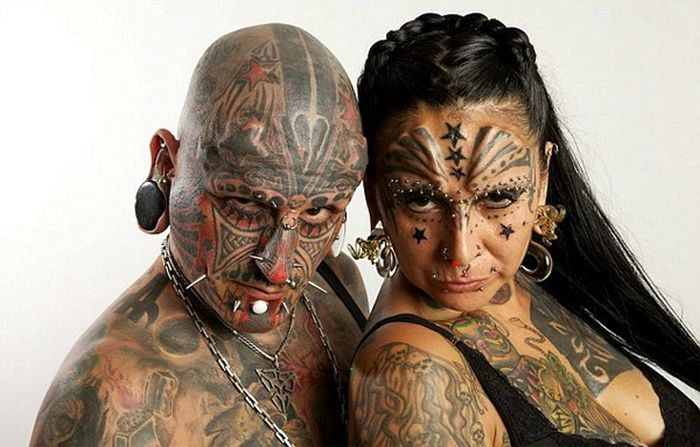 Самая татуированная пара поженилась (7 фото)