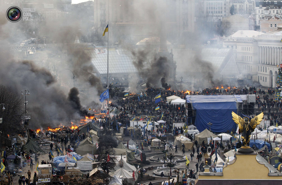 Киевские беспорядки становятся смертельными