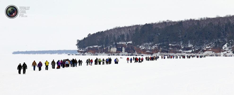 Замороженное верхнее озеро