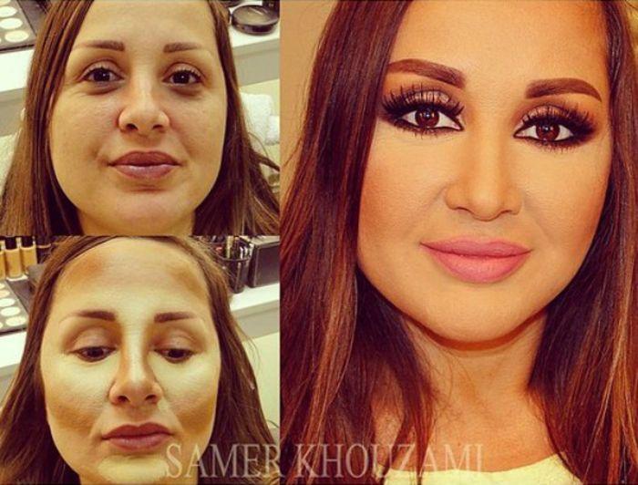 Чудеса профессионального макияжа: до и после (11 фото)