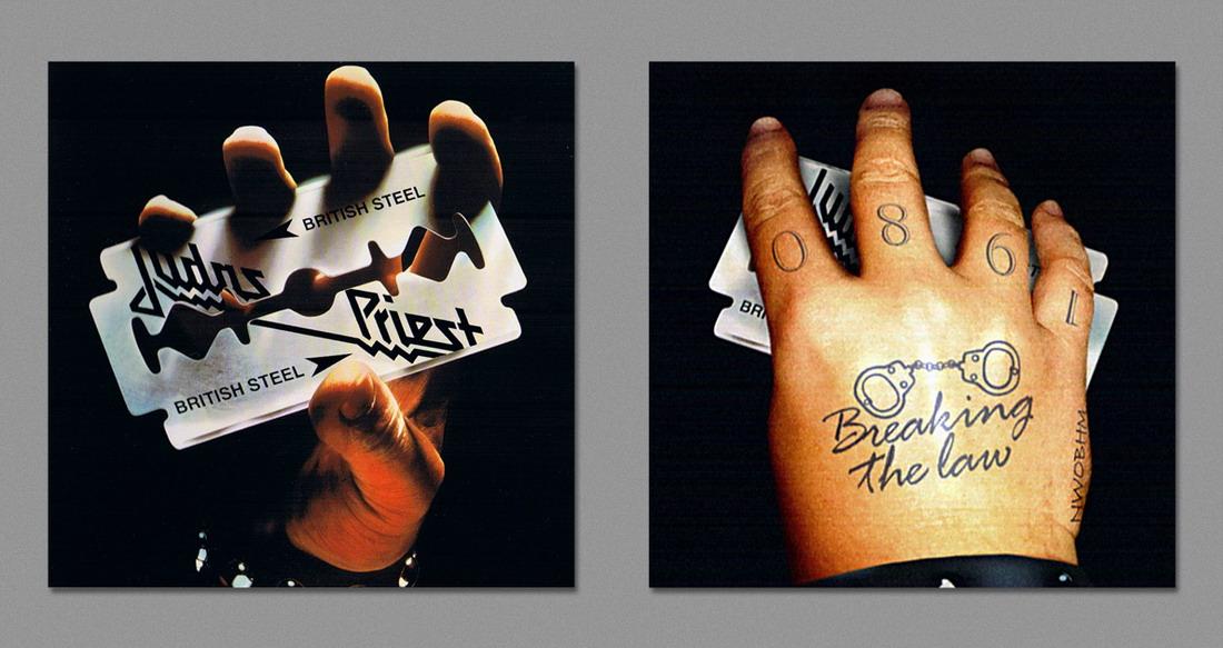 Обратная сторона обложек знаковых альбомов