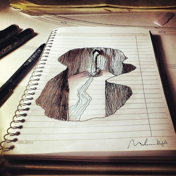 3d рисунки на бумаге.