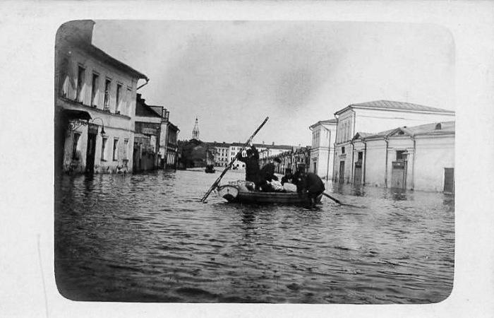 Сильное наводнение в Москве 1908-го года (48 фото)