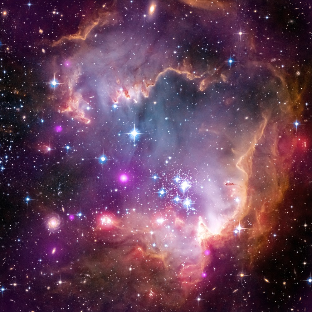 Малое Магелланово Облако, сфотографированное с Hubble в 2013 году.