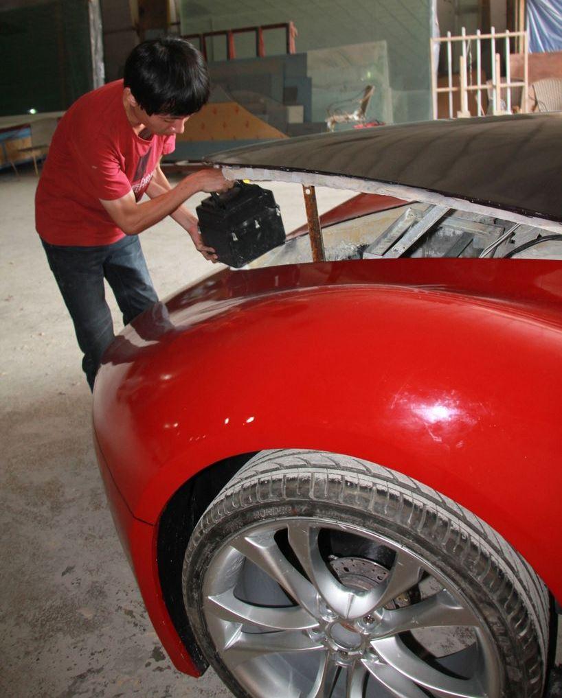 Шикарный автомобиль созданный своими руками-4