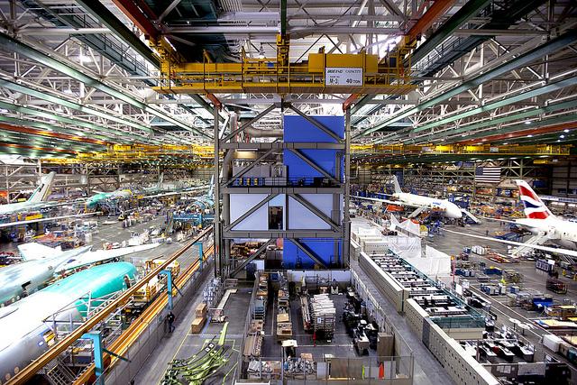 Фото Фабрика Boeing