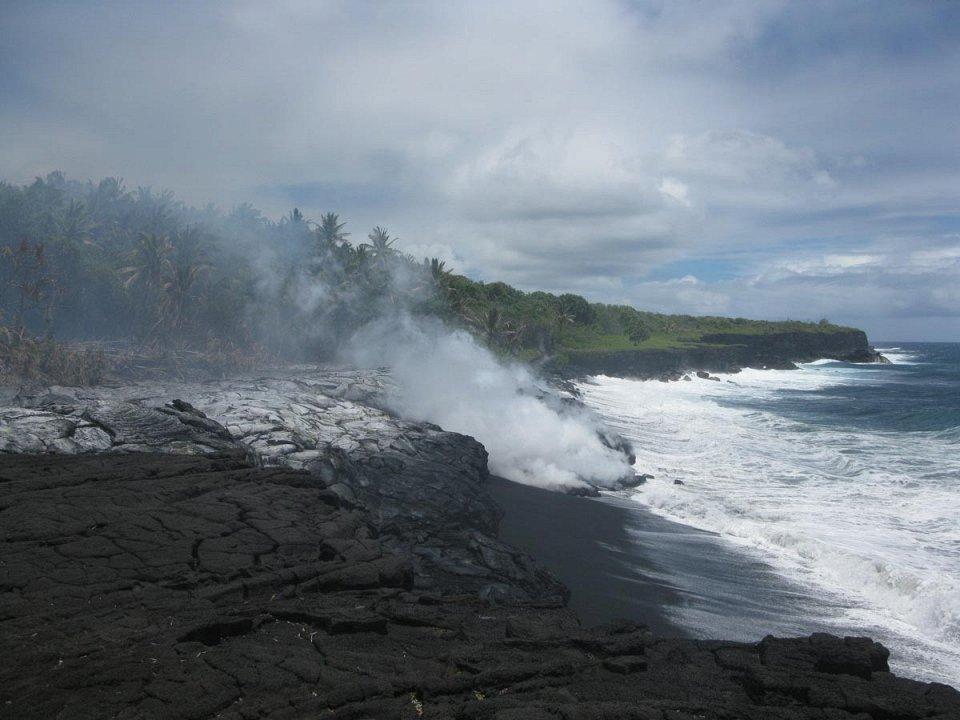 Фото Черный пляж Килауэа