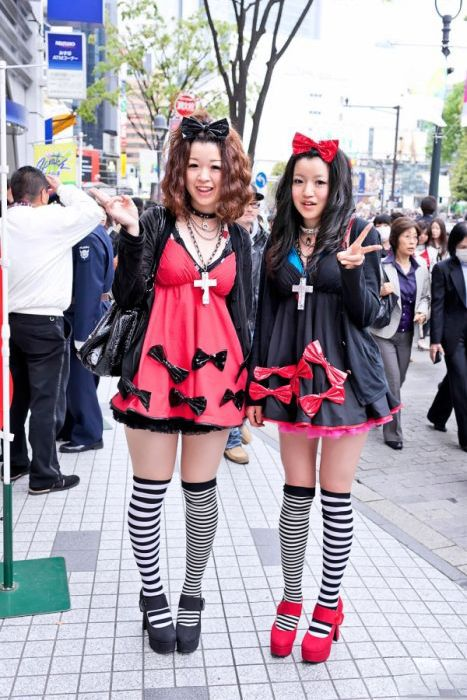 Интересная и странная Японская мода.
